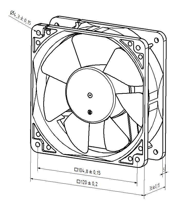 industrial electric fan diagram